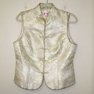 Authentic Chinese Silk Vest with Knot Buttons